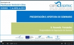 "Videos of the Climatlantic seminar ""Territorial planning and climate seminar"""