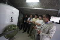 "Engine Room in the Sports' Pavillion ""Paco Paz"": Solar and Geothermal energy is stored in two buffer tanks"